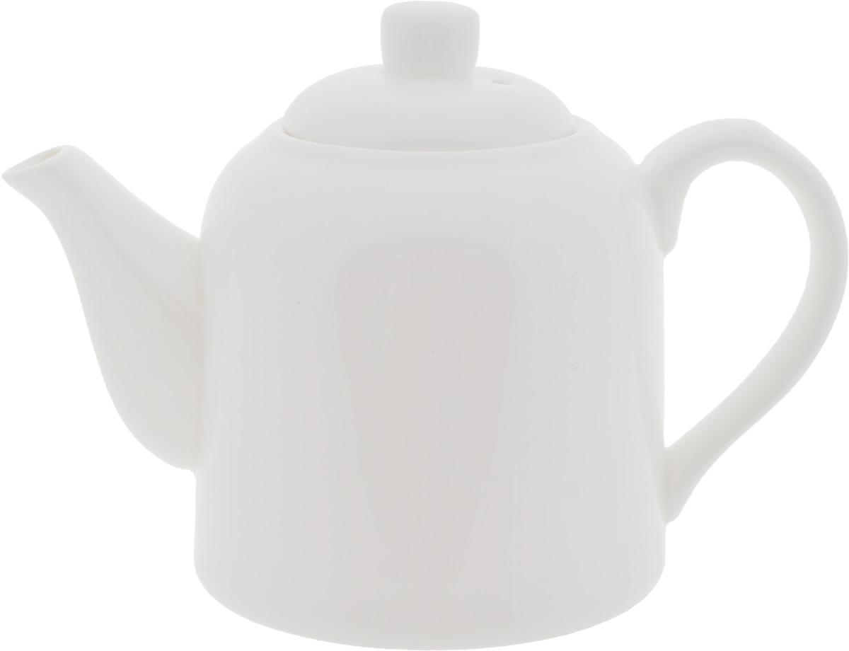 Чайник заварочный Wilmax, 375 мл391602Заварочный чайник Wilmax изготовлен из высококачественного фарфора. Глазурованное покрытие обеспечивает легкую очистку. Изделие прекрасно подходит для заваривания вкусного и ароматного чая, а также травяных настоев. Ситечко в основании носика препятствует попаданию чаинок в чашку. Оригинальный дизайн сделает чайник настоящим украшением стола. Он удобен в использовании и понравится каждому.Можно мыть в посудомоечной машине и использовать в микроволновой печи. Диаметр чайника (по верхнему краю): 5,5 см. Высота чайника (без учета крышки): 8,5 см.