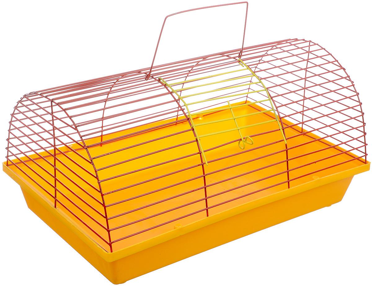 Клетка для грызунов ЗооМарк, цвет: желтый поддон, красная решетка, 36 х 23 х 17,5 см24872/266820Клетка Зоомарк, выполненная из полипропилена и металла, подходит для мелких грызунов. Она имеет яркий поддон, удобна в использовании и легко чистится. Сверху имеется ручка для переноски.Такая клетка станет уединенным личным пространством и уютным домиком для маленького грызуна.