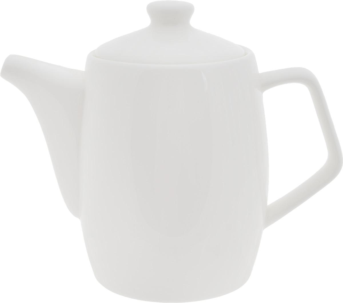 Чайник заварочный Wilmax, 1 л391602Заварочный чайник Wilmax изготовлен из высококачественного фарфора. Глазурованное покрытие обеспечивает легкую очистку. Изделие прекрасно подходит для заваривания вкусного и ароматного чая, а также травяных настоев. Ситечко в основании носика препятствует попаданию чаинок в чашку. Оригинальный дизайн сделает чайник настоящим украшением стола. Он удобен в использовании и понравится каждому.Можно мыть в посудомоечной машине и использовать в микроволновой печи. Диаметр чайника (по верхнему краю): 9,2 см. Высота чайника (без учета крышки): 14,2 см.