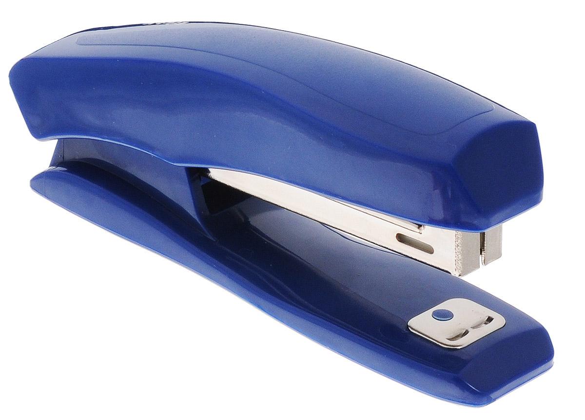 Erich Krause Степлер Elegance для скоб №10 цвет синийEK2175_синийУдобный и практичный степлер Erich Krause Elegance - незаменимый офисный инструмент.Степлер выполнен из пластика с металлическим механизмом. Эргономичная форма позволяет хранить степлер в горизонтальном и вертикальном положениях, что экономит рабочее пространство. Степлер вмещает до 100 скоб №10, загибает скобы в двух направлениях и способен прошить до 20 листов бумаги. Имеет встроенный антистеплер.Степлер Erich Krause Elegance гарантирует стабильную и качественную работу в течение долгого времени.