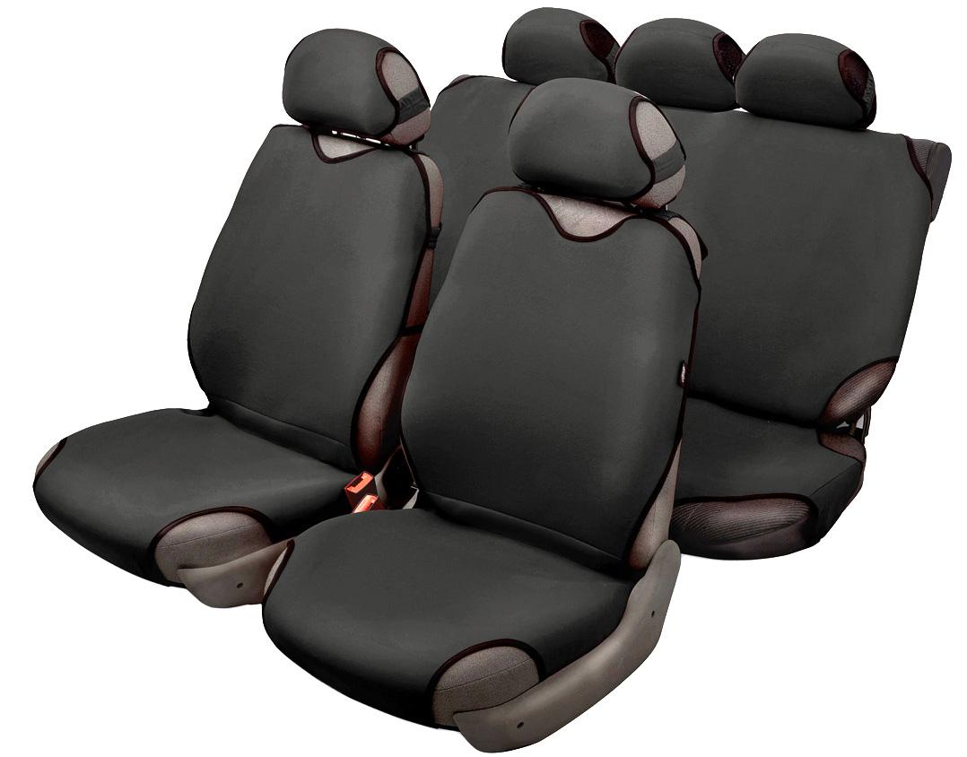 Чехол-майка Azard Sprint, полный комплект, цвет: черный, 8 предметовSC-FD421005Универсальные чехлы-майки Azard Sprint предназначены на сидения автомобиля. Выполнены в классическом однотонном дизайне.Чехлы надежно прилегают к автокреслам и не собираются в процессе эксплуатации. Применимы в автомобилях с боковыми подушками безопасности (AIR BAG).Материал триплирован огнеупорным поролоном 2 мм, за счет чего чехол приобретает дополнительную мягкость и устойчивость к возгоранию.Авточехлы майки Azard Sprint износоустойчивы и легко стирается в стиральной машине.Рекомендуется стирка в деликатном режиме.