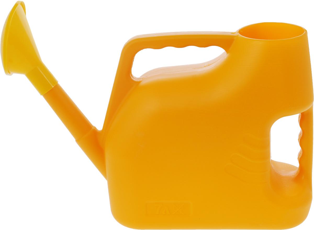 Лейка Альтернатива, цвет: желтый, 7 л1.645-504.0Садовая лейка Альтернатива предназначена для полива насаждений наприусадебном участке. Она выполнена из пластика и имеет небольшую массу, чтопозволяет экономить силы при поливе. Удобство в использовании такжеобеспечивается за счет эргономичной ручки лейки. Выпуклая насадка позволяетпроизводить равномерный полив, не прибивая растения. Лейка имеет большоегорлышко для наливания воды. Лейка Альтернатива станет незаменимой на вашем огороде или в саду.