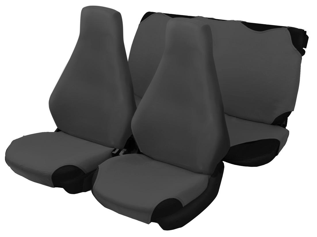 Чехол-майка Azard 7 Classic, цвет: темно-серый, 4 предметаCA-3505Универсальные чехлы-майки на сидения автомобиля. Для автомобильных кресел с несъемными подголовниками. Идеально подходят для ВАЗ 2107.Чехлы надежно прилегают к автокреслам и не собираются в процессе эксплуатации. Применимы в автомобилях с боковыми подушками безопасности (AIR BAG).Материал триплирован огнеупорным поролоном 2 мм, за счет чего чехол приобретает дополнительную мягкость и устойчивость к возгоранию.Авточехлы майки Azard 7 Classic износоустойчивы и легко стирается в стиральной машине. Рекомендуется стирка в деликатном режиме.