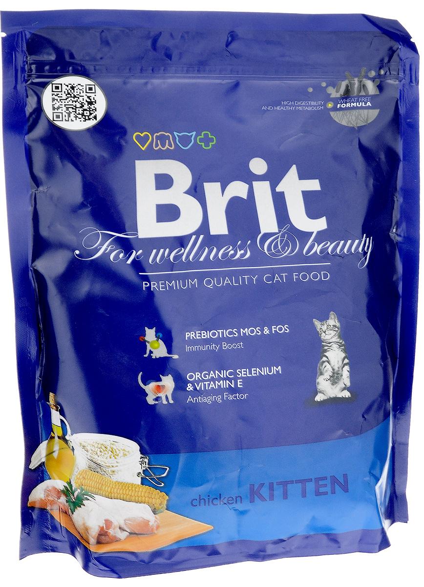Корм сухой Brit Premium для котят, беременных и кормящих кошек, с курицей, 300 г0120710Полноценный сбалансированный корм Brit Premiumпредназначен для котят от 1 месяца до 1 года, также рекомендуется для беременных и кормящих кошек всех пород. Он не содержит пшеницы, что обеспечивает максимальное снижение пищевой аллергии. Содержание пребиотиков MOS и FOS повышает иммунитет и поддерживает здоровую микрофлору кишечника. Органический селен и витамин Е замедляют процессы старения.Товар сертифицирован.