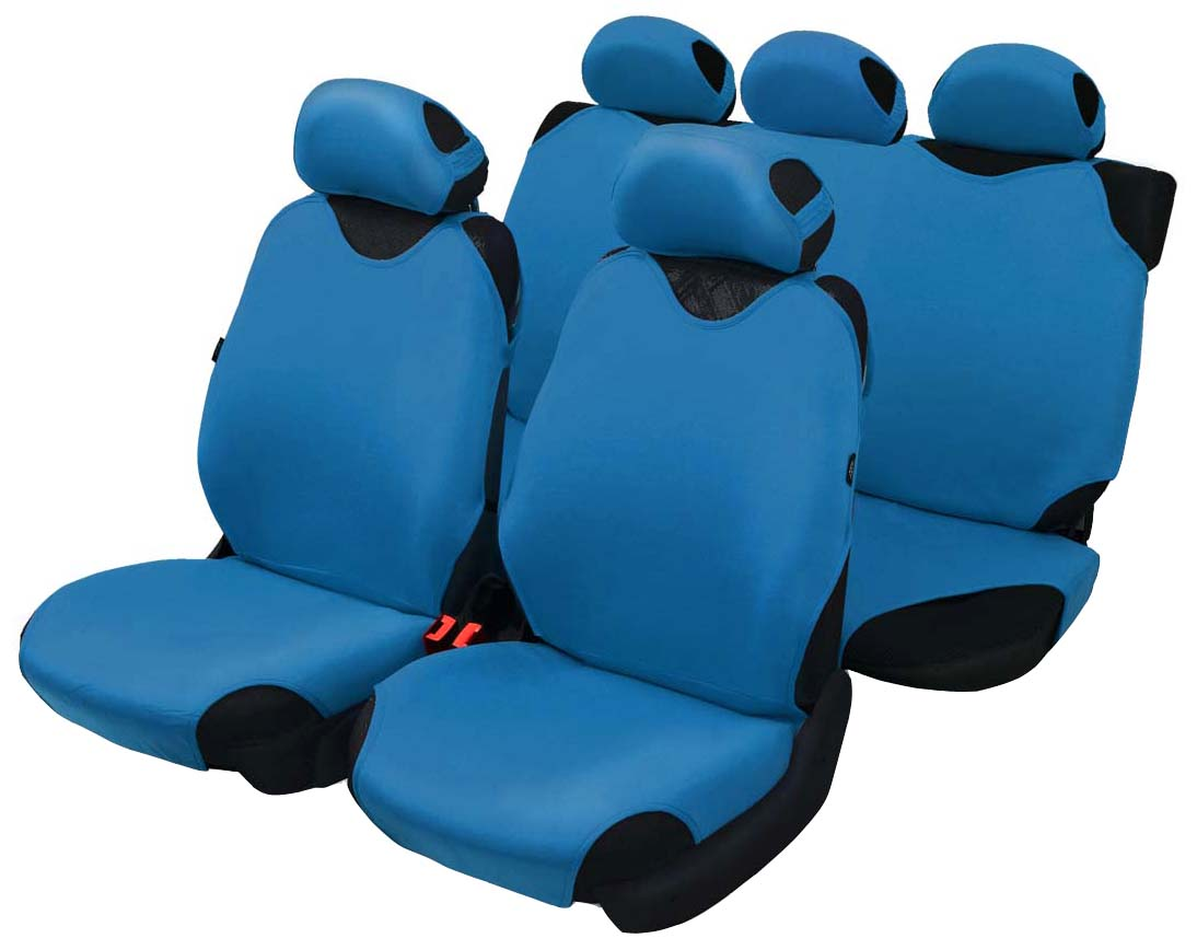 Чехол-майка Azard Cotton, полный комплект, цвет: темно-синий, 4+5 предметов21395598Универсальные чехлы-майки на передние сидения автомобиля. Приятный на ощупь мягкий материал имеет в своем составе 70% хлопка.Чехлы надежно прилегают к автокреслам и не собираются в процессе эксплуатации. Применимы в автомобилях с боковыми подушками безопасности (AIR BAG).Материал триплирован огнеупорным поролоном 2 мм, за счет чего чехол приобретает дополнительную мягкость и устойчивость к возгоранию.Авточехлы майки Azard Cotton износоустойчивы и легко стирается в стиральной машине. Рекомендуется стирка в деликатном режиме.