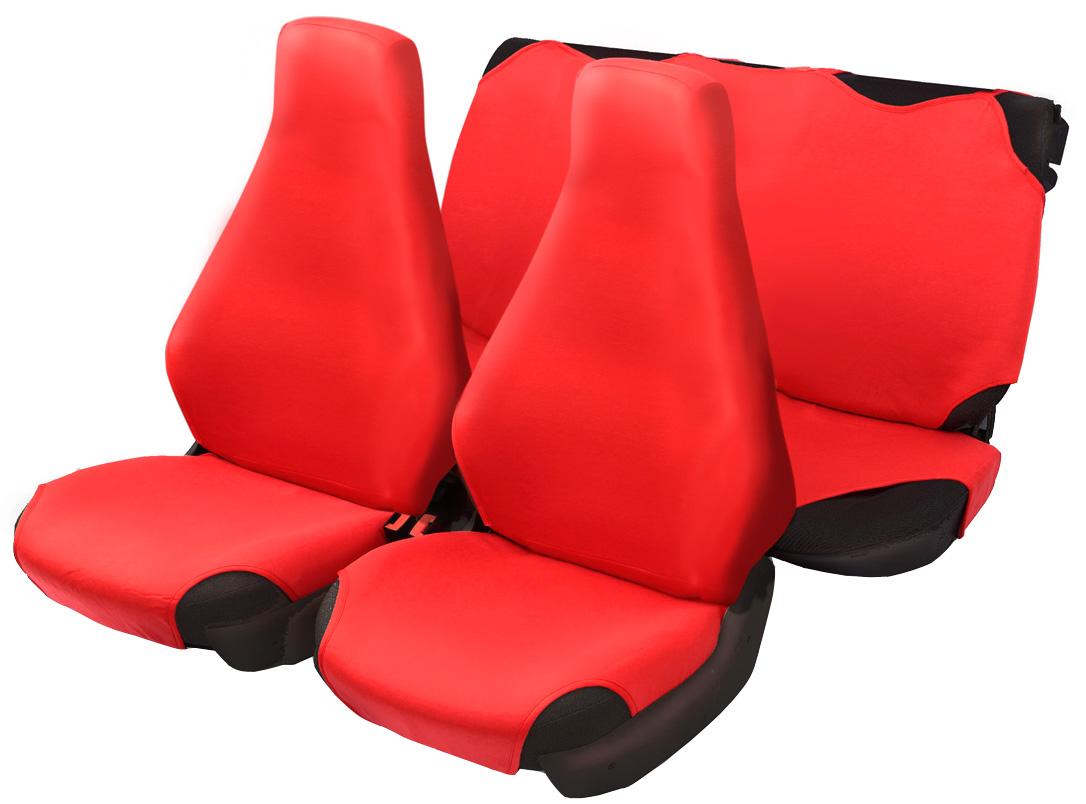 Чехол-майка Azard 7 Classic, цвет: красный, 4 предметаCA-3505Универсальные чехлы-майки на сидения автомобиля. Для автомобильных кресел с несъемными подголовниками. Идеально подходят для ВАЗ 2107.Чехлы надежно прилегают к автокреслам и не собираются в процессе эксплуатации. Применимы в автомобилях с боковыми подушками безопасности (AIR BAG).Материал триплирован огнеупорным поролоном 2 мм, за счет чего чехол приобретает дополнительную мягкость и устойчивость к возгоранию.Авточехлы майки Azard 7 Classic износоустойчивы и легко стирается в стиральной машине. Рекомендуется стирка на деликатном режиме.