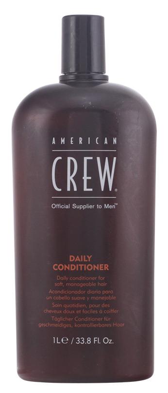American Crew Кондиционер для ежедневного ухода Classic Daily Conditioner 1000 мл7219742000Daily Conditioner Кондиционер для ежедневного ухода оказывает на волосы укрепляющее и стимулирующее действие, делая их приятными на ощупь, мягкими и шелковистыми. В состав данного средства входит экстракт коры панамы, который эффективно понижает масляную консистенцию волос, благодаря чему они становятся сильными и здоровыми, а вместе с этим устраняется проблема сухости волос. Экстракт розмарина, ментол и витамин B5 оказывают на кожу головы полезное и успокаивающее воздействие, в результате чего она становится здоровой, надолго сохраняя ощущение комфорта. Кондиционер для ежедневного ухода Американ Crew хорошо увлажняет волосы, при этом не утяжеляя их, сохраняет интенсивность естественного блеска волос. Кондиционер American Крю Daily великолепно подходит для ежедневного ухода за волосами, поддерживая их чистоту и здоровье.