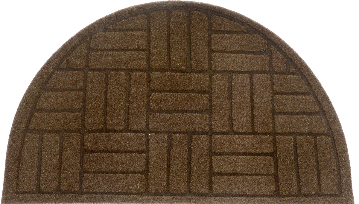 Коврик придверный EFCO Оскар. Паркет, цвет: коричневый, 65 х 40 см