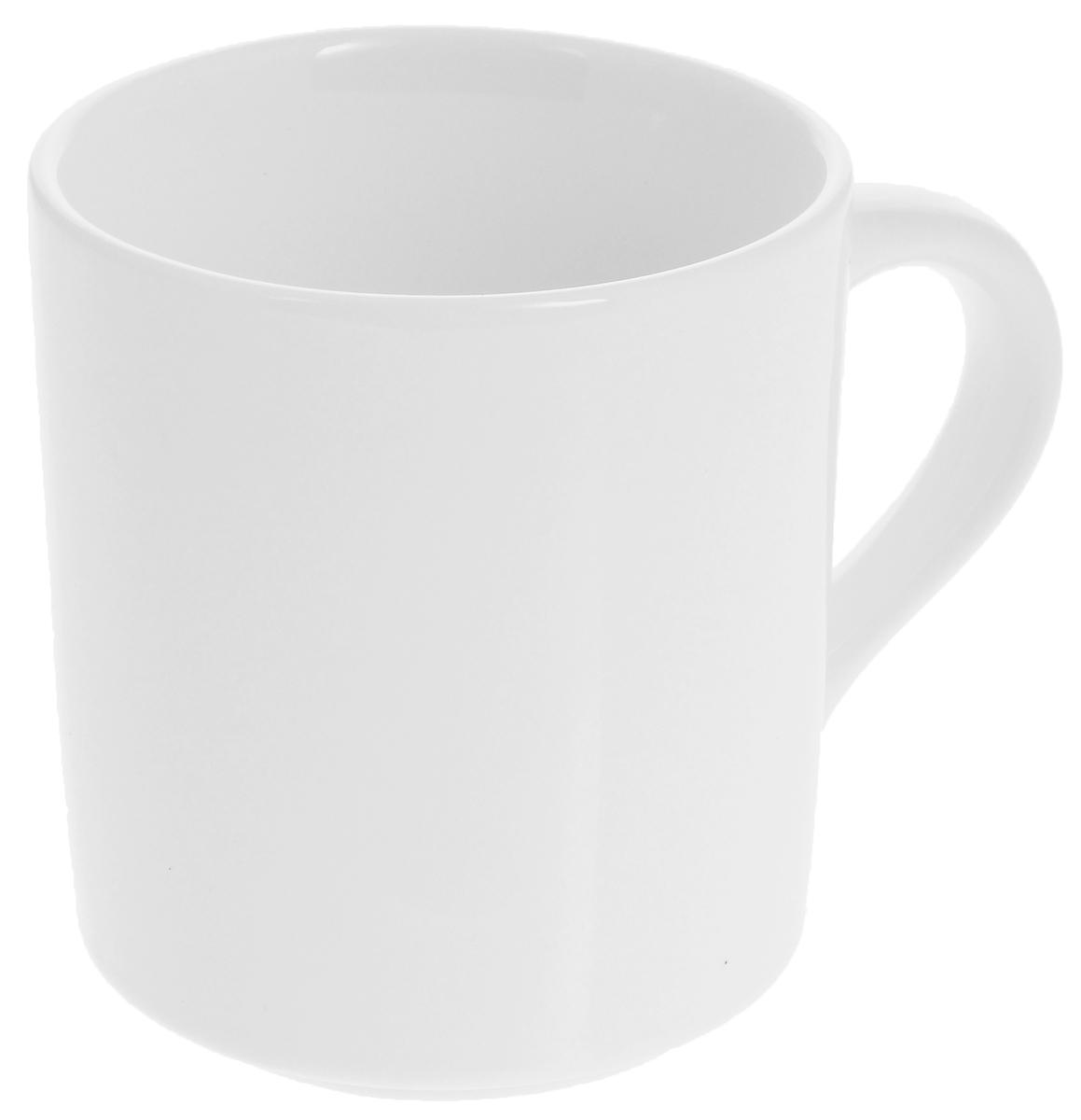 Кружка Wilmax, 300 мл. WL-99304054 009312Кружка Wilmax изготовлена из высококачественного фарфора и сочетает в себе оригинальный дизайн и функциональность. Такая кружка идеально впишется в интерьер современной кухни, а также станет хорошим и практичным подарком на любой праздник. Диаметр кружки (по верхнему краю): 8 см.Высота кружки: 9 см.