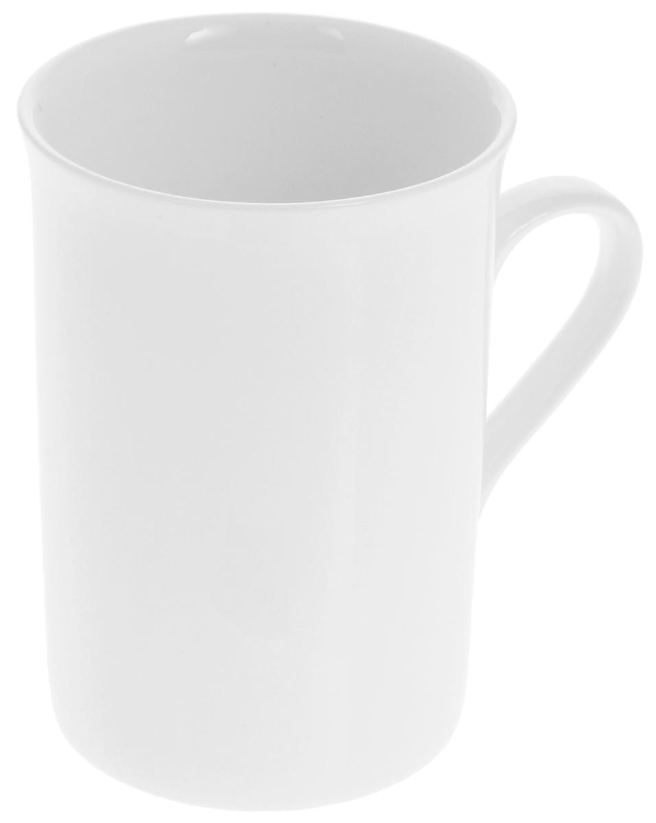 Кружка Wilmax, 300 мл54 009312Кружка Wilmax, изготовленная из высококачественного фарфора, сочетает в себе оригинальный дизайн и функциональность. Такая кружка идеально впишется в интерьер современной кухни, а также станет хорошим и практичным подарком на любой праздник. Диаметр кружки (по верхнему краю): 7,5 см.Высота кружки: 10,5 см.