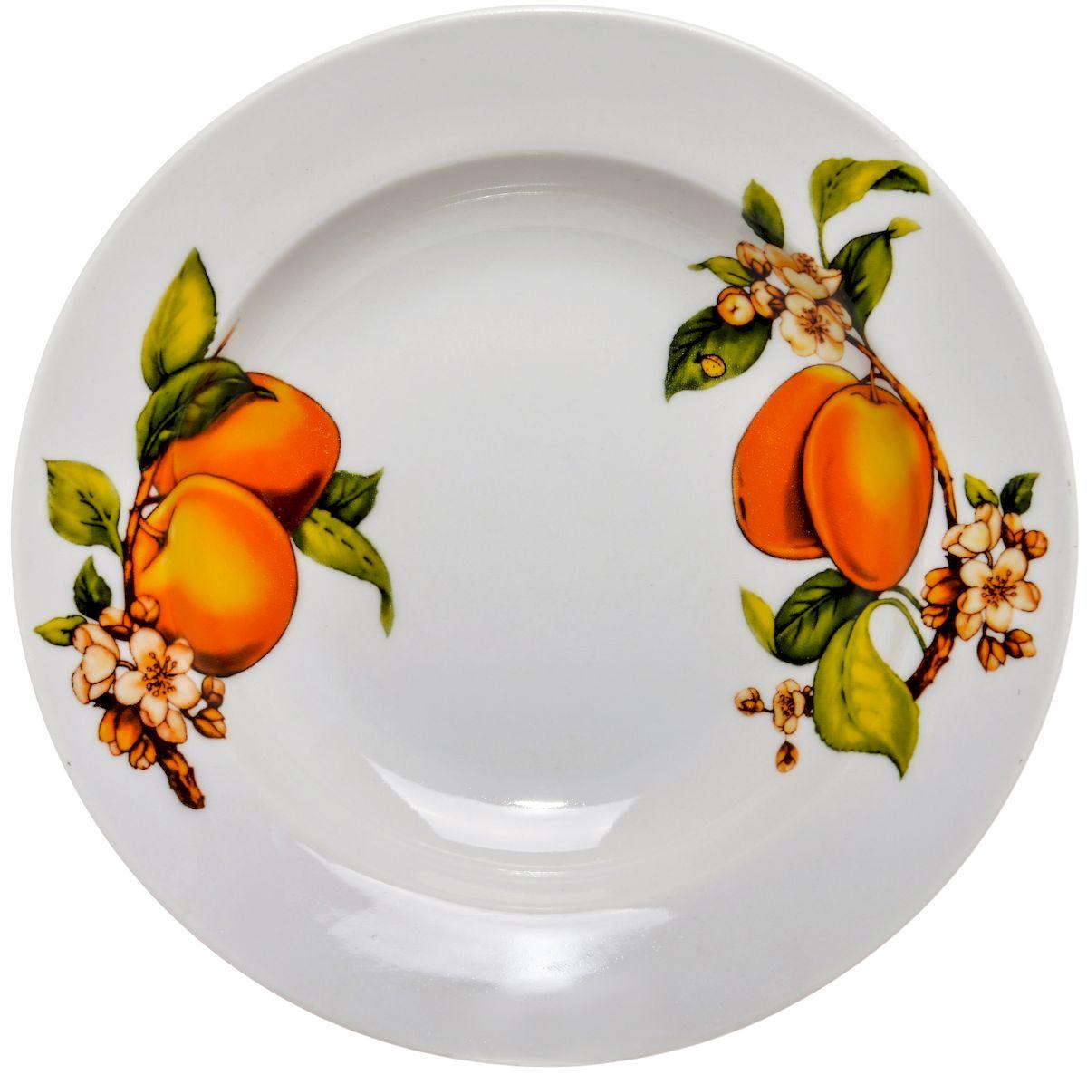 Тарелка глубокая Дулевский фарфор Абрикосы, 20 см54 009312Посуду можно использовать в СВЧ и мыть в посудомоечных машинах. Не рекомендуется использовать абразивные моющие средства.