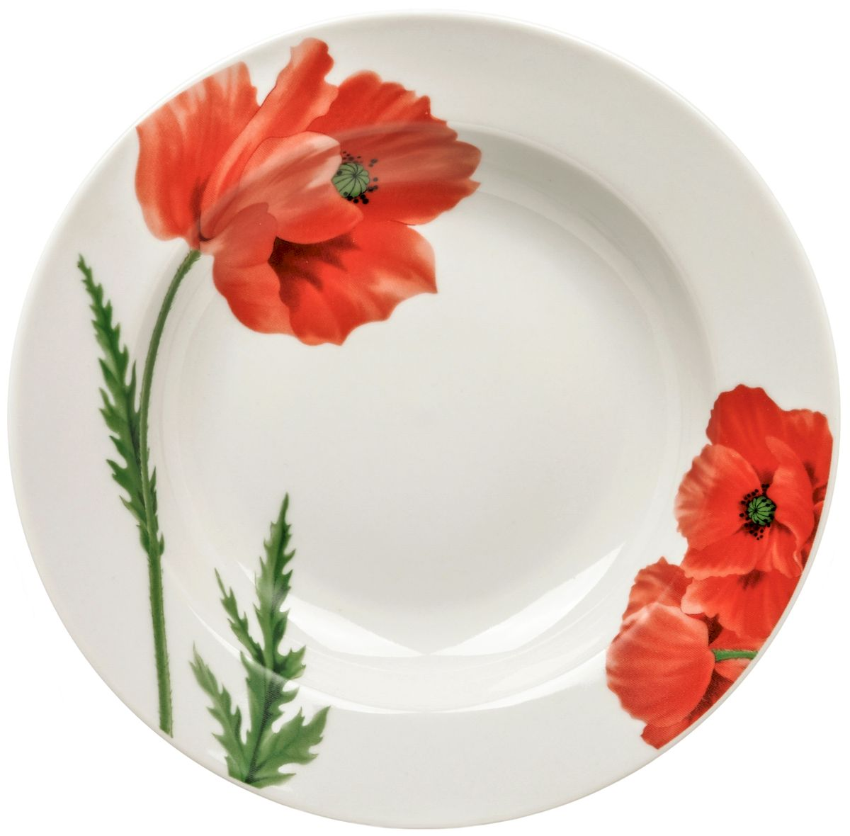 Тарелка глубокая Дулевский фарфор Маки, 20 см54 009312Посуду можно использовать в СВЧ и мыть в посудомоечных машинах. Не рекомендуется использовать абразивные моющие средства.