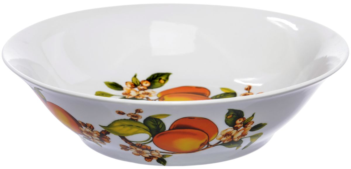 Салатник Дулевский фарфор Абрикосы, 1200 млFS-91909Посуду можно использовать в СВЧ и мыть в посудомоечных машинах. Не рекомендуется использовать абразивные моющие средства.