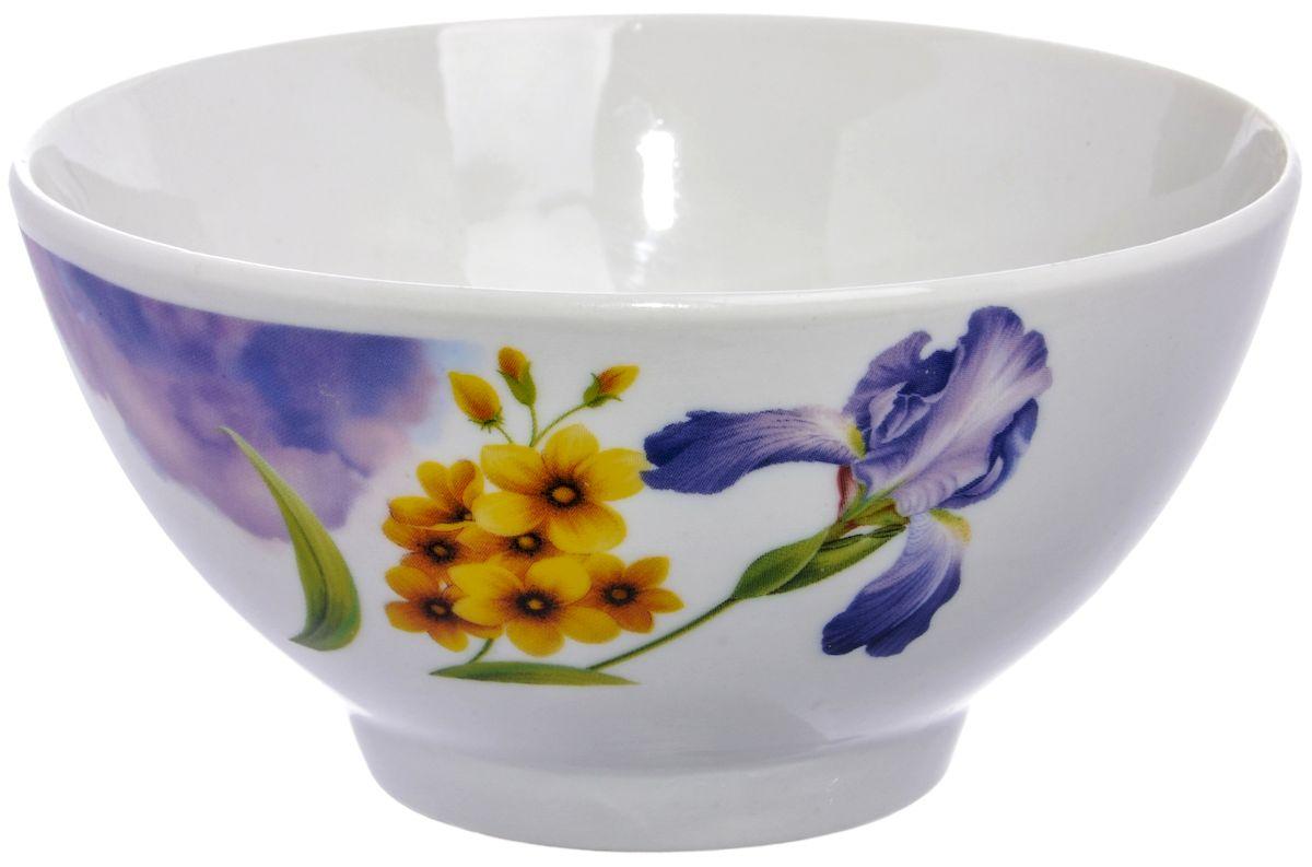 Салатница Дулевский фарфор Ирисы, 13 см54 009312Посуду можно использовать в СВЧ и мыть в посудомоечных машинах. Не рекомендуется использовать абразивные моющие средства.