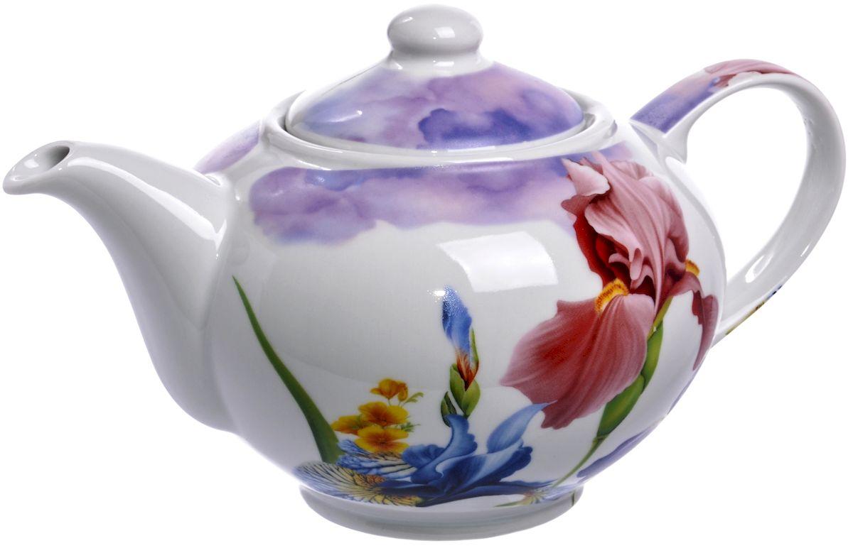 Чайник Дулевский фарфор Ирисы, 1100 мл54 009312Посуду можно использовать в СВЧ и мыть в посудомоечных машинах. Не рекомендуется использовать абразивные моющие средства.