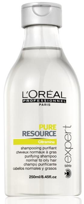 LOreal Professionnel Шампунь для нормальных и склонных к жирности волос Expert Pure Resource - 250 млMP59.4DШампунь Пюр Ресорс подходит для нормальных/склонных к жирности волос. Результат заметен уже после первого использования. Препарат разработан на основе технологии PUR BALANCE и в его состав входит вода повышенной очистки. Шампунь насыщен антиоксидантами. Он способствует восстановлению гидролипидного слоя кожи головы и устраняет излишки кожного жира. Содержит активный компонент, который смягчает жесткую воду. Волосы приобретают мягкость и блеск, выглядят очень ухоженными.