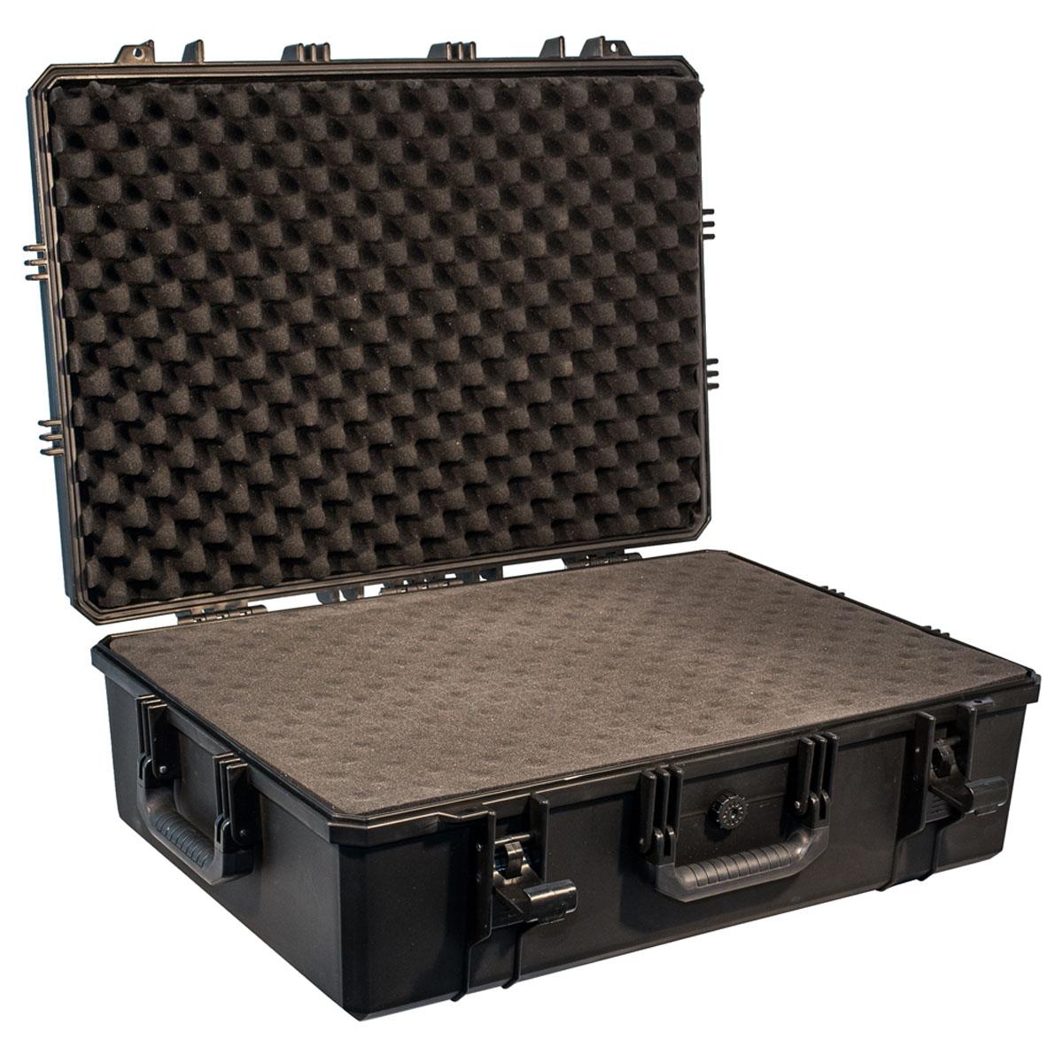 Кейс противоударный PRO-4x4 №8, влагозащищенный, 72 x 51,5 x 24,5 см, цвет: черныйSATURN CANCARDКейс №8 с поропластом - это один из самых больших кейсов, позволяющих разместить Ваше оборудование, предварительно подготовив для него ложемент.Защищенные кейсы PRO-4x4 это надежный и проверенный способ сохранить в целостности дорогостоящее оборудование, требующее бережной транспортировки и гарантированной сохранности.Кейсы снабжены удобными и надежными ручками, в крышке имеется паз с резиновым уплотнением. Так же все кейсы PRO-4x4 имеют клапан выравнивания давления.Благодаря используемым материалам и технологии изготовления кейсы способны выдержать значительные ударные и статические нагрузки защищая свое содержимое от механических повреждений.Герметичность и пыле-влагозащищенность кейсов PRO-4x4 оградит дорогостоящую технику от агрессивной внешней среды и не позволит вывести ее из строя в процессе транспортировки.Великолепный внешний вид, потребительские свойства и непревзойдённое качество исполнения кейсов PRO-4x4 соответствуют запросам самых требовательных потребителей.В зависимости от выбранного размера кейс подойдет для хранения ценных документов, оружия, запасных частей и электронного оборудования. Область применения может быть самой различной, он одинаково хорошо покажет себя и во время внедорожного путешествия и в производственных процессах.