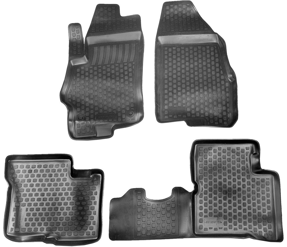 Коврик в салон автомобиля L.Locker, для SsangYong (13-), 4 шт0220030101Коврики L.Locker производятся индивидуально для каждой модели автомобиля из современного и экологически чистого материала. Изделия точно повторяют геометрию пола автомобиля, имеют высокий борт, обладают повышенной износоустойчивостью, антискользящими свойствами, лишены резкого запаха и сохраняют свои потребительские свойства в широком диапазоне температур (от -50°С до +80°С). Рисунок ковриков специально спроектирован для уменьшения скольжения ног водителя и имеет достаточную глубину, препятствующую свободному перемещению жидкости и грязи на поверхности. Одновременно с этим рисунок не создает дискомфорта при вождении автомобиля. Водительский ковер с предустановленными креплениями фиксируется на штатные места в полу салона автомобиля. Новая технология системы креплений герметична, не дает влаге и грязи проникать внутрь через крепеж на обшивку пола.