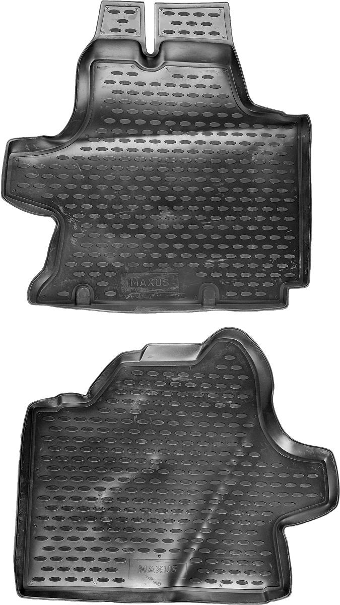 Коврики в салон автомобиля Novline-Autofamily, для ГАЗ Maxus 2004->, 2 штАксион Т-33Коврики в салон Novline-Autofamily не только улучшат внешний вид салона вашего автомобиля, но и надежно уберегут его от пыли, грязи и сырости, а значит, защитят кузов от коррозии. Полиуретановые коврики для автомобиля гладкие, приятные и не пропускают влагу. Автомобильные коврики в салон учитывают все особенности каждой модели и полностью повторяют контуры пола. Благодаря этому их не нужно будет подгибать или обрезать. И самое главное - они не будут мешать педалям.Полиуретановые автомобильные коврики для салона произведены из высококачественного материала, который держит форму и не пачкает обувь. К тому же, этот материал очень прочный (его, к примеру, не получится проткнуть каблуком).Некоторые автоковрики становятся источником неприятного запаха в автомобиле. С полиуретановыми ковриками Novline-Autofamily вы можете этого не бояться.Коврики для автомобилей надежно крепятся на полу и не скользят, что очень важно во время движения, особенно для водителя.Коврики из полиуретана надежно удерживают грязь и влагу, при этом всегда выглядят довольно опрятно. И чистятся они очень просто: как при помощи автомобильного пылесоса, так и различными моющими средствами.
