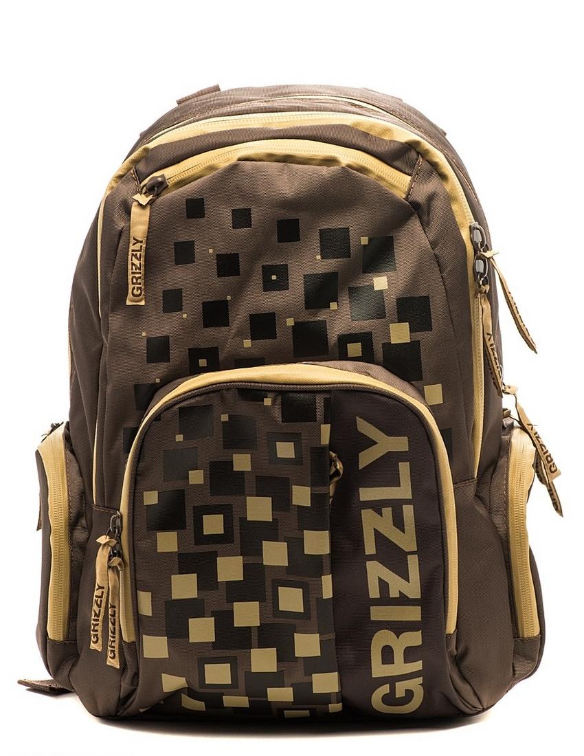 Рюкзак городской Grizzly, цвет: коричневый, бежевый, 18 л. RU-510-1/272523WDРюкзак с двумя отделениями, двумя передними карманами, с внутренним карманом и карманом-пеналом, с двумя боковыми карманами и укрепленными лямками, с ручкой для переноски. Функционален, удобен, эргономичен. Изготовлен из надежной и прочной ткани, хорошо держит форму, легко стирается, быстро сохнет. Станет надежным спутником в студенческих и рабочих буднях, вашей городской жизни, отдыхе, спорте и приключениях.