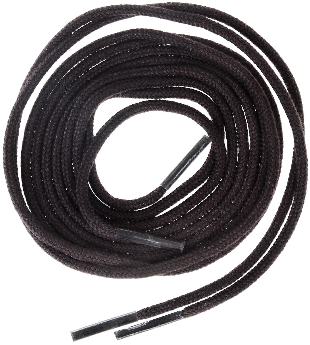 Шнурки тонкие Collonil Rund, цвет: темно-коричневый, длина 75 смNTS-101C blueТонкие шнурки Collonil Rund изготовлены из 75% хлопка и 25% полиамида. Крепкие и удобные шнурки являются неотъемлемым аксессуаром и подходят для ношения модельной или предназначенной для отдыха и туризма обуви. Подходят для обуви с восемью отверстиями.