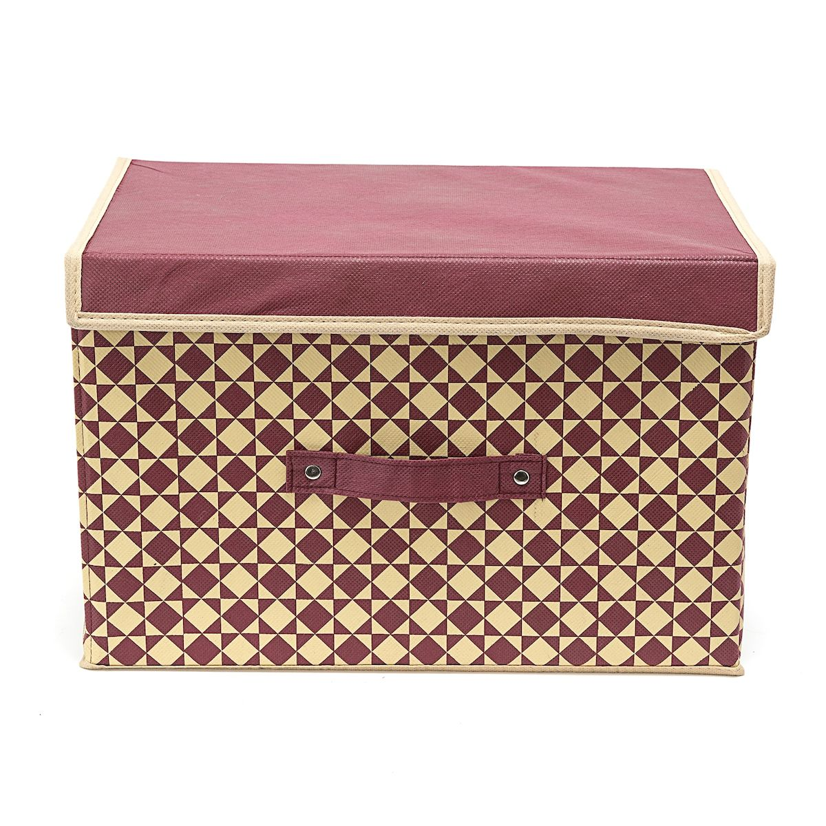 Коробка для хранения Homsu Bordo, 38 х 25 х 25 смTD 0033Вместительная коробка для хранения Homsu Bordo выполнена из плотного картона. Изделие обладает удобным размером и привлекательным дизайном, выполненным в приятной цветовой гамме. Внутри коробки можно хранить фотографии, ткани, принадлежности для хобби, памятные сувениры и многое другое. Крышка изделия удобно открывается и закрывается.Коробка для хранения Homsu Bordo станет незаменимой помощницей в путешествиях.