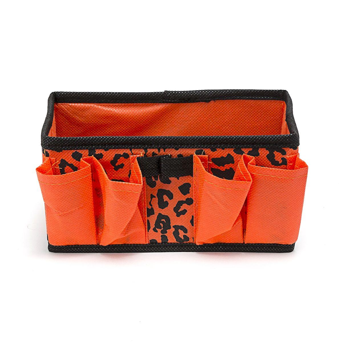 Органайзер для хранения косметики и мелочей Leopard, 20 x 10 x 10 смRG-D31SОрганайзер Homsu Leopard выполнена из полиэстера и предназначена для хранения вещей. Изделие защитит вещи от повреждений, пыли, влаги и загрязнений во время хранения и транспортировки. Органайзер идеально подходит для хранения детских вещей и игрушек. Жесткий каркас из плотного толстого картона обеспечивает устойчивость конструкции. Размер: 20 х 10 х 10 см.