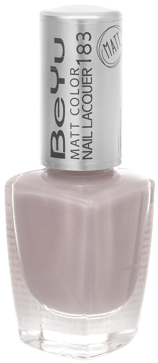 BeYu Лак для ногтей с матовым эффектом Matt Color Nail Lacquer 183 9 мл28032022Новый лак для ногтей с модным матовым финишем! Идеально матовое покрытие и насыщенные оттенки.