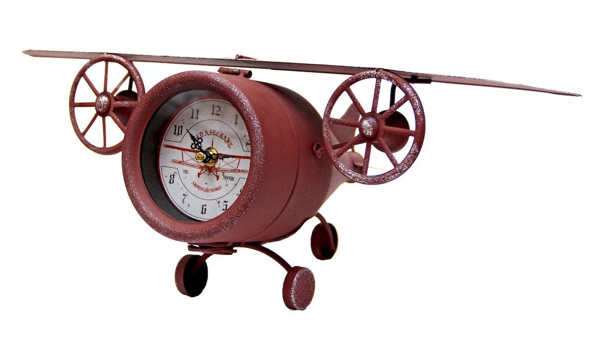 Часы настольные Magic Home Самолет, кварцевые, цвет: коричневый94672Настольные кварцевые часы Magic Home Самолет изготовлены из металла, циферблат с покрытием из принтованной бумаги. Настольные часы Magic Home Самолет прекрасно оформят интерьер дома или рабочий стол в офисе.Часы работают от одной батарейки типа АА мощностью 1,5V (не входит в комплект).