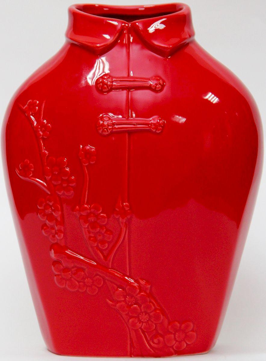 Ваза декоративная Magic Home, цвет: красный, 17 х 12 х 22,7 смFS-80423Декоративная ваза Magic Home станет не только отличным подарком, но и практичным украшением интерьера.
