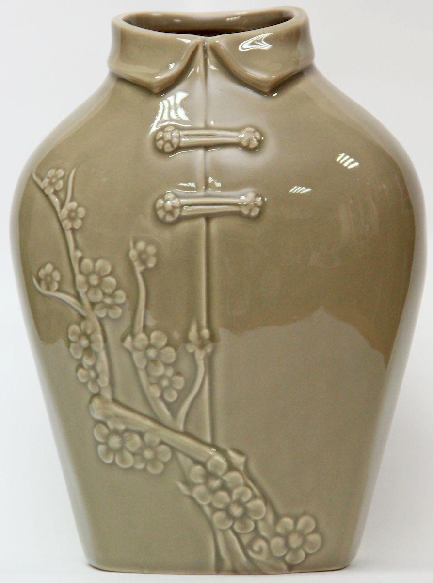 Ваза декоративная Magic Home, цвет: латте, 17 х 12 х 22,7 смFS-91909Декоративная ваза Magic Home станет не только отличным подарком, но и практичным украшением интерьера.