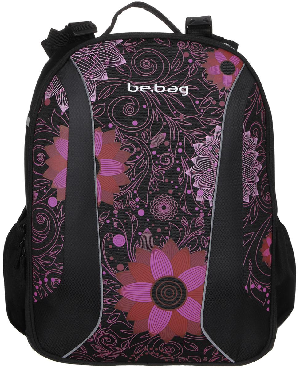 Herlitz Ранец школьный Be Bag Ornament Flower11438033Школьный ранец Herlitz Be Bag. Ornament Flower изготовлен по жестко-каркасной технологии, что обеспечивает правильную эргономичную форму. Каркас не деформируется при нагрузке и распределяет вес по всей площади ранца.Ранец содержит два вместительных отделения, закрывающихся на застежки-молнии с двумя бегунками. В большом отделении находится мягкая перегородка для тетрадей или учебников, фиксирующаяся хлястиком на липучке. Во втором отделении расположены карман-сетка, органайзер для канцелярских принадлежностей, кармашек под мобильный телефон и лента с карабином для ключей. Изделие имеет два открытых боковых кармана на резинках.Ранец оснащен регулируемыми по длине плечевыми лямками и дополнен текстильной ручкой для переноски в руке. Грудное крепление создано специально для фиксации лямок на плечах ребенка. Прочное дно с пластиковыми ножками придает ранцу хорошую устойчивость и защиту от загрязнений. Светоотражающие элементы обеспечивают безопасность в темное время суток.Многофункциональный школьный ранец станет незаменимым спутником вашего ребенка в походах за знаниями.