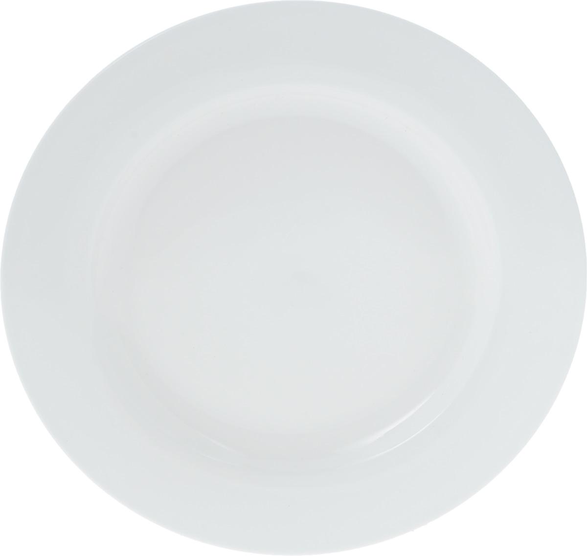 Тарелка Wilmax, диаметр 25,5 см. WL-991180 / A115510Тарелка Wilmax, изготовленная из высококачественного фарфора, имеет классическую круглую форму. Оригинальный дизайн придется по вкусу и ценителям классики, и тем, кто предпочитает утонченность и изысканность. Тарелка Wilmax идеально подойдет для сервировки стола и станет отличным подарком к любому празднику.