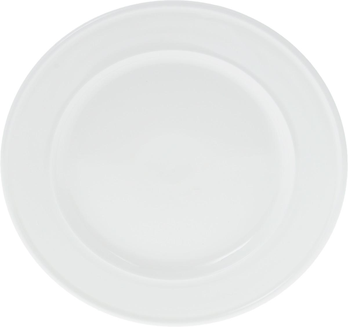 Тарелка Wilmax, диаметр 23 см. WL-991241 / A115510Тарелка Wilmax, изготовленная из высококачественного фарфора, имеет классическую круглую форму. Оригинальный дизайн придется по вкусу и ценителям классики, и тем, кто предпочитает утонченность и изысканность. Тарелка Wilmax идеально подойдет для сервировки стола и станет отличным подарком к любому празднику.