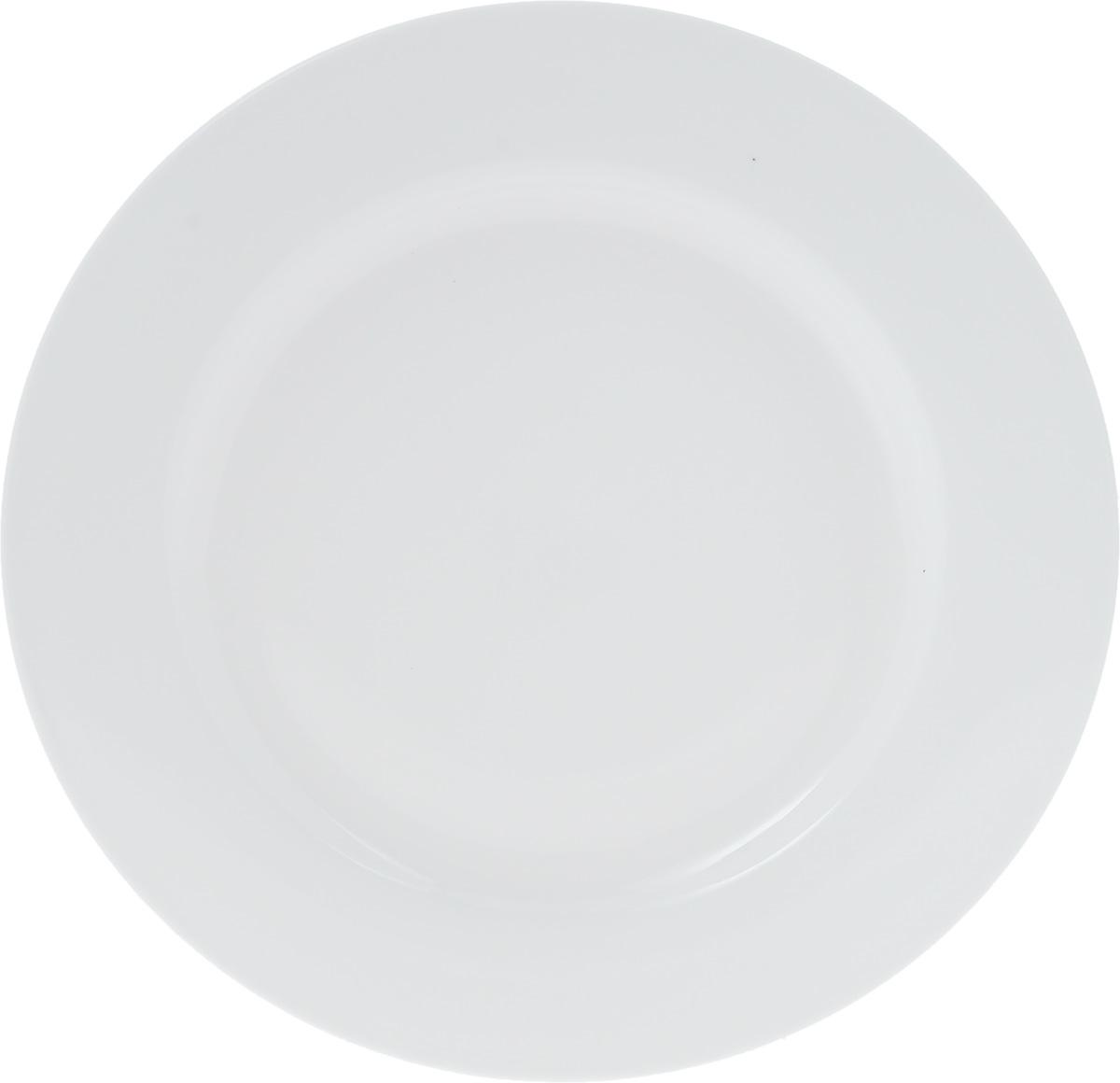 Тарелка Wilmax, диаметр 28 см. WL-991181 / A115510Тарелка Wilmax, изготовленная из высококачественного фарфора, имеет классическую круглую форму. Оригинальный дизайн придется по вкусу и ценителям классики, и тем, кто предпочитает утонченность и изысканность. Тарелка Wilmax идеально подойдет для сервировки стола и станет отличным подарком к любому празднику.
