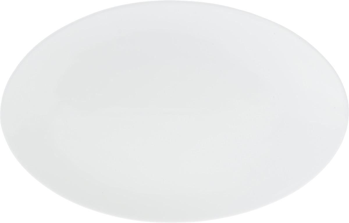 Блюдо Wilmax, 36,5 х 24,5 смW10100025Оригинальное овальное блюдо Wilmax, изготовленное из фарфора с глазурованным покрытием, прекрасно подойдет для подачи нарезок, закусок и других блюд. Фарфор от Wilmax изготовлен по уникальному рецепту из сплава магния и алюминия, благодаря чему посуда обладает характерной белизной, прочностью и устойчивостью к сколами. Особый состав глазури обеспечивает гладкость и блеск поверхности изделия.Блюдо украсит ваш кухонный стол, а также станет замечательным подарком к любому празднику.Можно мыть в посудомоечной машине и использовать в микроволновой печи. Изделие пригодно для использования в духовых печах и выдерживает температуру до 300°С.Размеры изделия: 36,5 х 24,5 х 2 см.