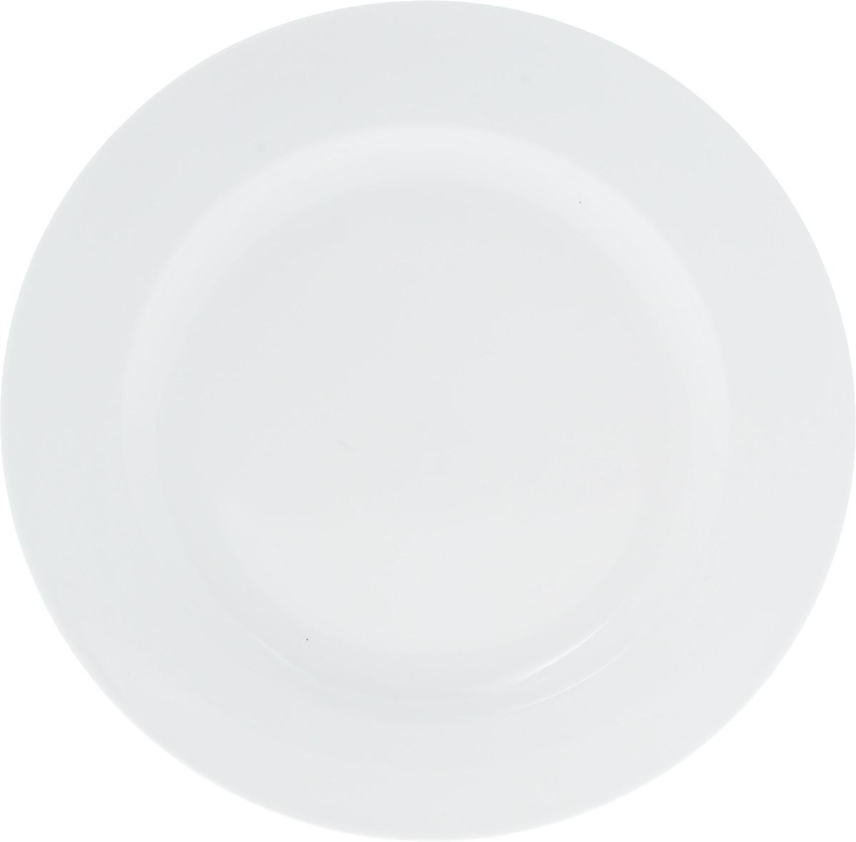 Блюдо Wilmax, диаметр 30,5 см115510Оригинальное круглое блюдо Wilmax, изготовленное из фарфора с глазурованным покрытием, прекрасноподойдет для подачи нарезок, закусок и других блюд. Фарфор от Wilmax изготовлен по уникальному рецепту из сплава магния и алюминия, благодаря чему посуда обладает характерной белизной, прочностью и устойчивостью к сколами. Особый состав глазури обеспечивает гладкость и блеск поверхности изделия.Оно украсит ваш кухонный стол, а также станет замечательным подарком к любому празднику.Можно мыть в посудомоечной машине и использовать в микроволновой печи. Изделие пригодно для использования в духовых печах и выдерживает температуру до 300°С.