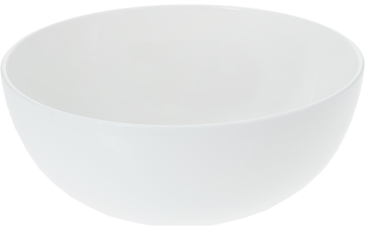 Салатник Wilmax, 1,7 л115510Салатник Wilmax, изготовленный из высококачественного фарфора с глазурованным покрытием, прекрасно подойдет для подачи различных блюд: закусок, салатов или фруктов. Такой салатник украсит ваш праздничный или обеденный стол, а оригинальный дизайн придется по вкусу и ценителям классики, и тем, кто предпочитает утонченность и изысканность.