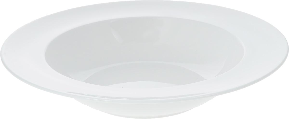 Тарелка глубокая Wilmax, диаметр 28 смFS-91909Глубокая тарелка Wilmax, выполненная из высококачественного фарфора, предназначена для подачи супов и других жидких блюд. Она прекрасно впишется в интерьер вашей кухни и станет достойным дополнением к кухонному инвентарю. Тарелка Wilmax подчеркнет прекрасный вкус хозяйки и станет отличным подарком.