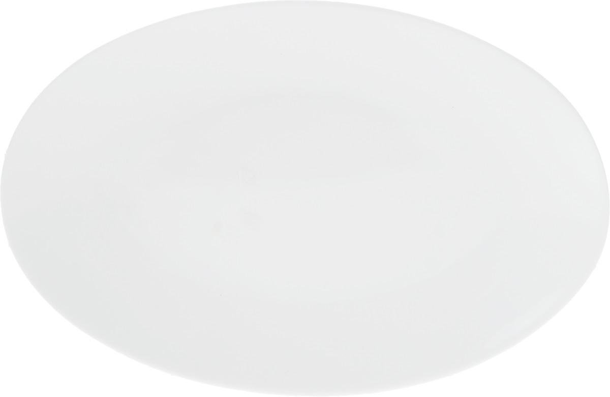 Блюдо Wilmax, 25,5 х 17 смVT-1520(SR)Оригинальное овальное блюдо Wilmax, изготовленное из фарфора с глазурованным покрытием, прекрасно подойдет для подачи нарезок, закусок и других блюд. Оно украсит ваш кухонный стол, а также станет замечательным подарком к любому празднику.Размер блюда: 25,5 х 17 см.