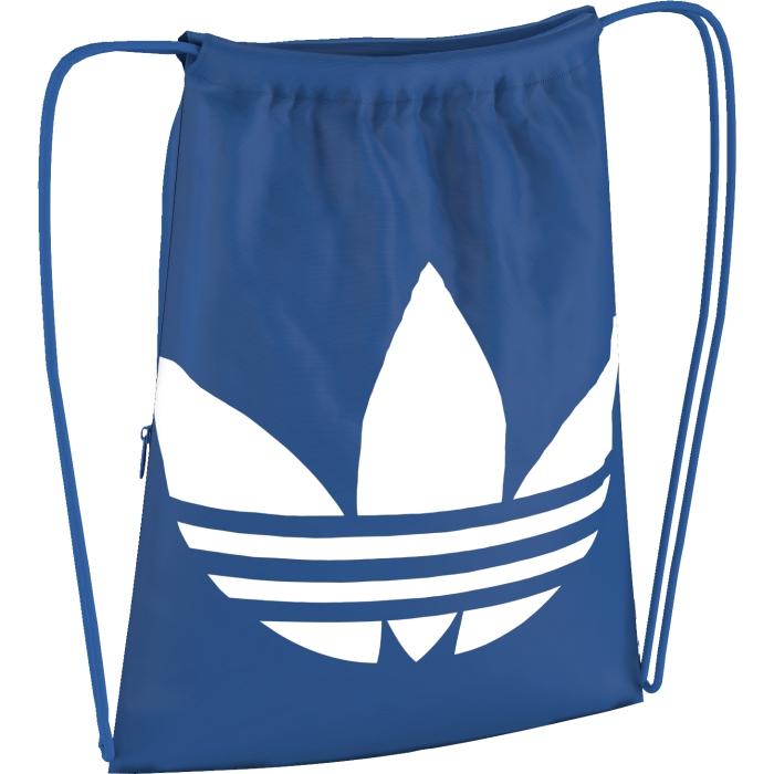 Рюкзак спортивный adidas Gymsack trefoil, цвет: голубой. AJ8987RivaCase 8460 blackЛегкий спортивный рюкзак с классическим трилистником на лицевой стороне. Модель с завязками-шнурками, которые превращаются в веревочные лямки.