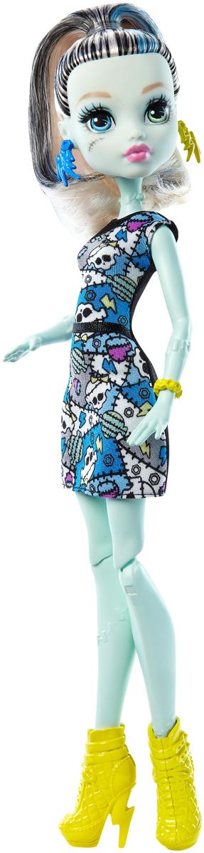 Monster High Кукла Френки Штейн цвет платья черный серый голубой