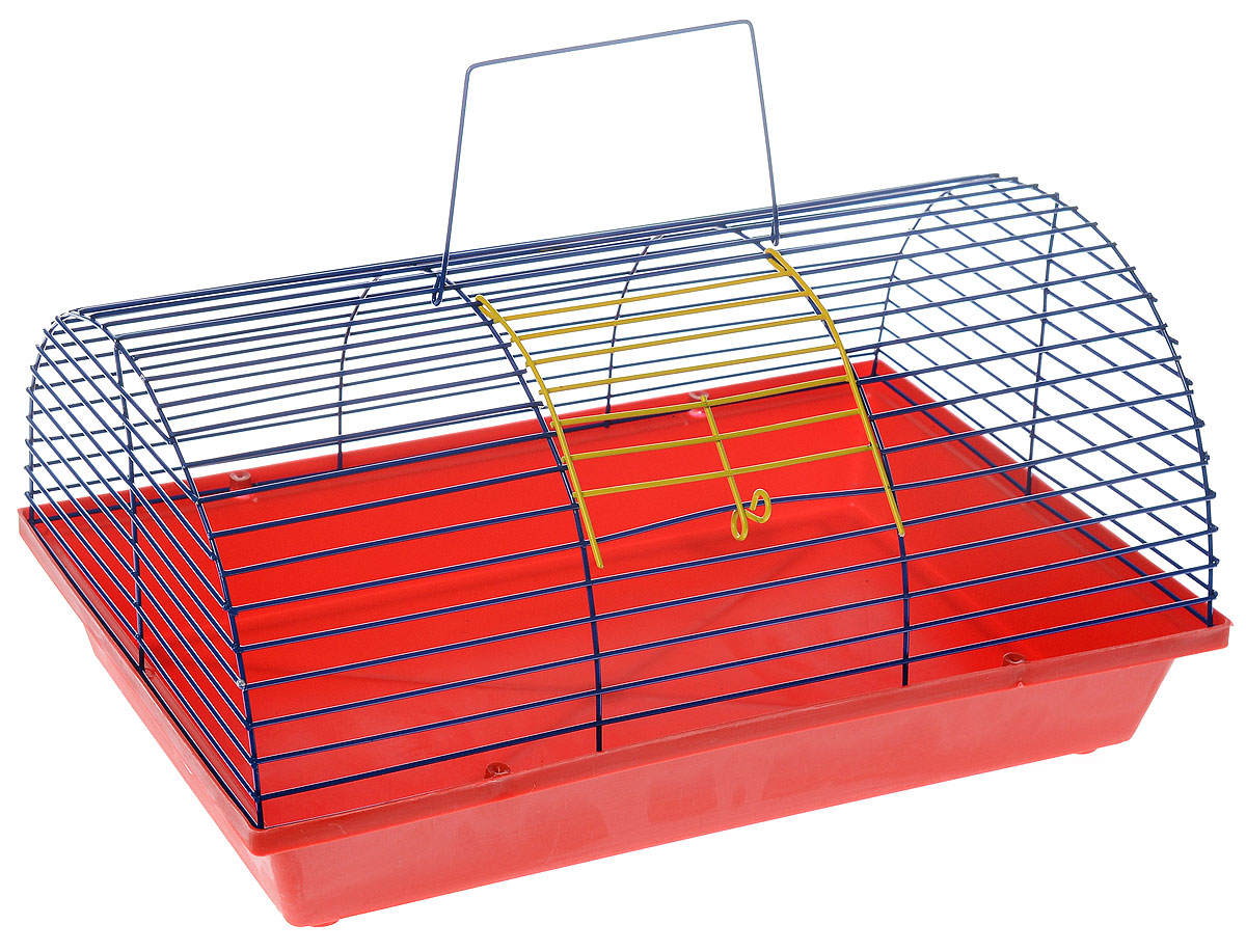 Клетка для грызунов ЗооМарк, цвет: красный поддон, синяя решетка, 36 х 23 х 17,5 см3336022058444 / 205844Клетка ЗооМарк, выполненная из полипропилена и металла, подходит для мелких грызунов. Она имеет яркий поддон, удобна в использовании и легко чистится. Сверху имеется ручка для переноски.Такая клетка станет уединенным личным пространством и уютным домиком для маленького грызуна.