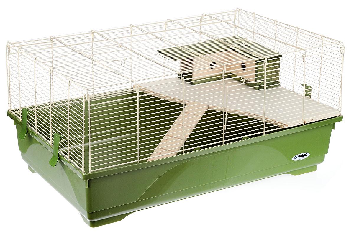 Клетка для грызунов Imac Stitch, 80 х 48,5 х 38 см0120710Просторная клетка Imac Stitch, выполненная из пластика, металла и дерева, подходит для мелких грызунов, например, крыс или хомяков. Изделие оборудовано лесенкой, полочкой и домиком. Клетка имеет яркий поддон, удобна в использовании и легко чистится. Такая клетка станет уединенным личным пространством и уютным домиком для маленького грызуна.