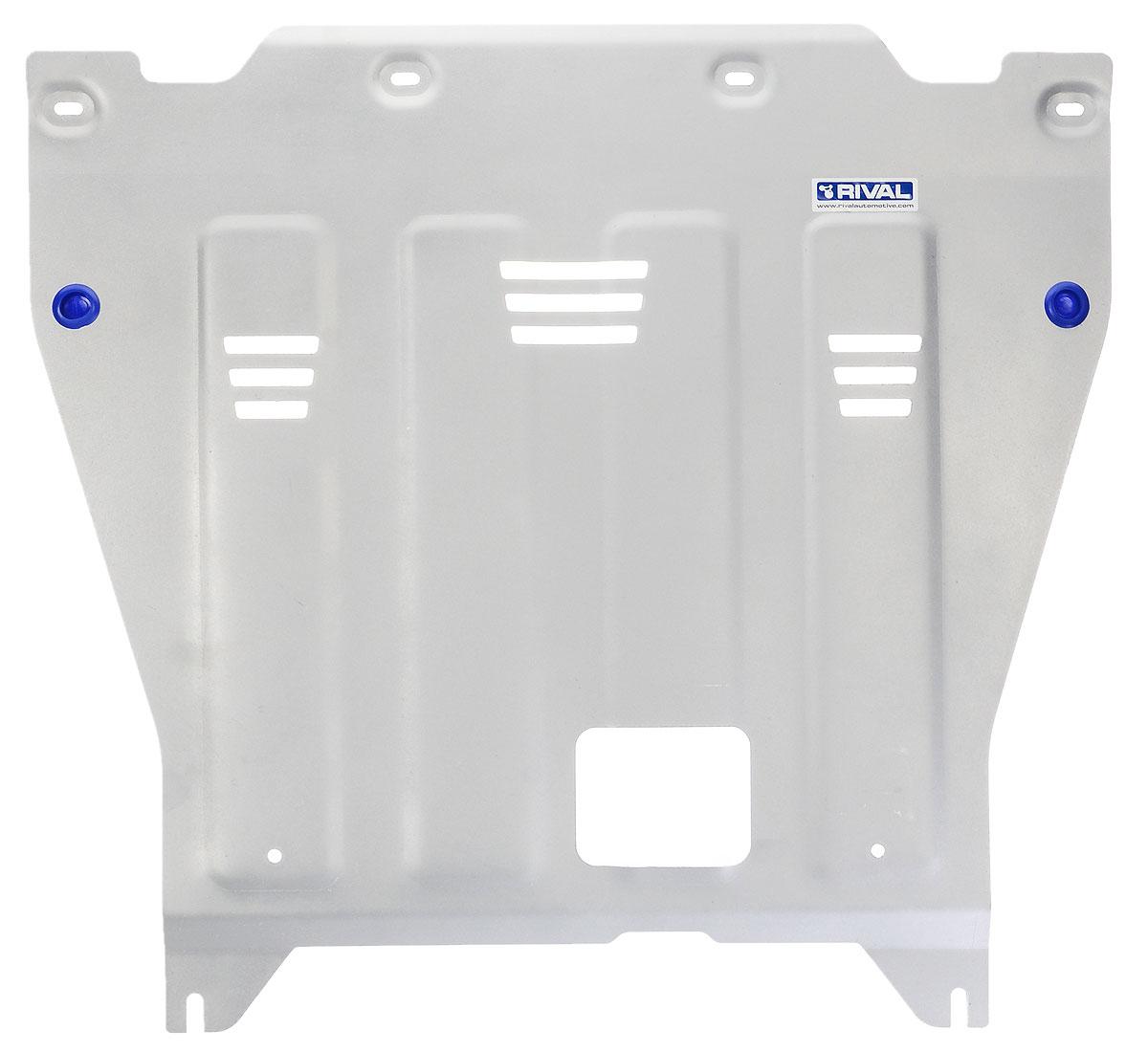 Защита картера и КПП Rival, для Kia Optima. 333.2837.11004900000360Защита картера и КПП для Kia Optima , V - 2,0(150hp); 2,4GDI(188hp) ; 2,0T-GDI(245hp) 2016-, крепеж в комплекте, алюминий 4 мм, Rival. Надежно защищают днище вашего автомобиля от повреждений, например при наезде на бордюры, а также выполняют эстетическую функцию при установке на высокие автомобили.- Толщина алюминиевых защит в 2 раза толще стальных, а вес при этом меньше до 30%.- Отлично отводит тепло от двигателя своей поверхностью, что спасает двигатель от перегрева в летний период или при высоких нагрузках.- В отличие от стальных, алюминиевые защиты не поддаются коррозии, что гарантирует срок службы защит более 5 лет.- Покрываются порошковой краской, что надолго сохраняет первоначальный вид новой защиты и защищает от гальванической коррозии.- Глубокий штамп дополнительно усиливает конструкцию защиты.- Подштамповка в местах крепления защищает крепеж от срезания.- Технологические отверстия там, где они необходимы для смены масла и слива воды, оборудованные заглушками, надежно закрепленными на защите.Уважаемые клиенты!Обращаем ваше внимание, на тот факт, что защита имеет форму, соответствующую модели данного автомобиля. Фото служит для визуального восприятия товара.