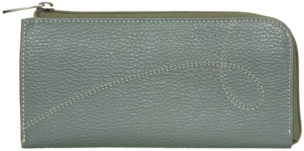 Портмоне женское Fabula Torrone, цвет: темно-зеленый. PJ.131.PMFW16-11135_914Полнокупюрное портмоне из коллекции Torrone выполнено из натуральной кожи. Закрывается на молнию. Внутренний функционал: 3 отделения для купюр, отделение для мелочи на молнии, 6 карманов для кредитных карт.