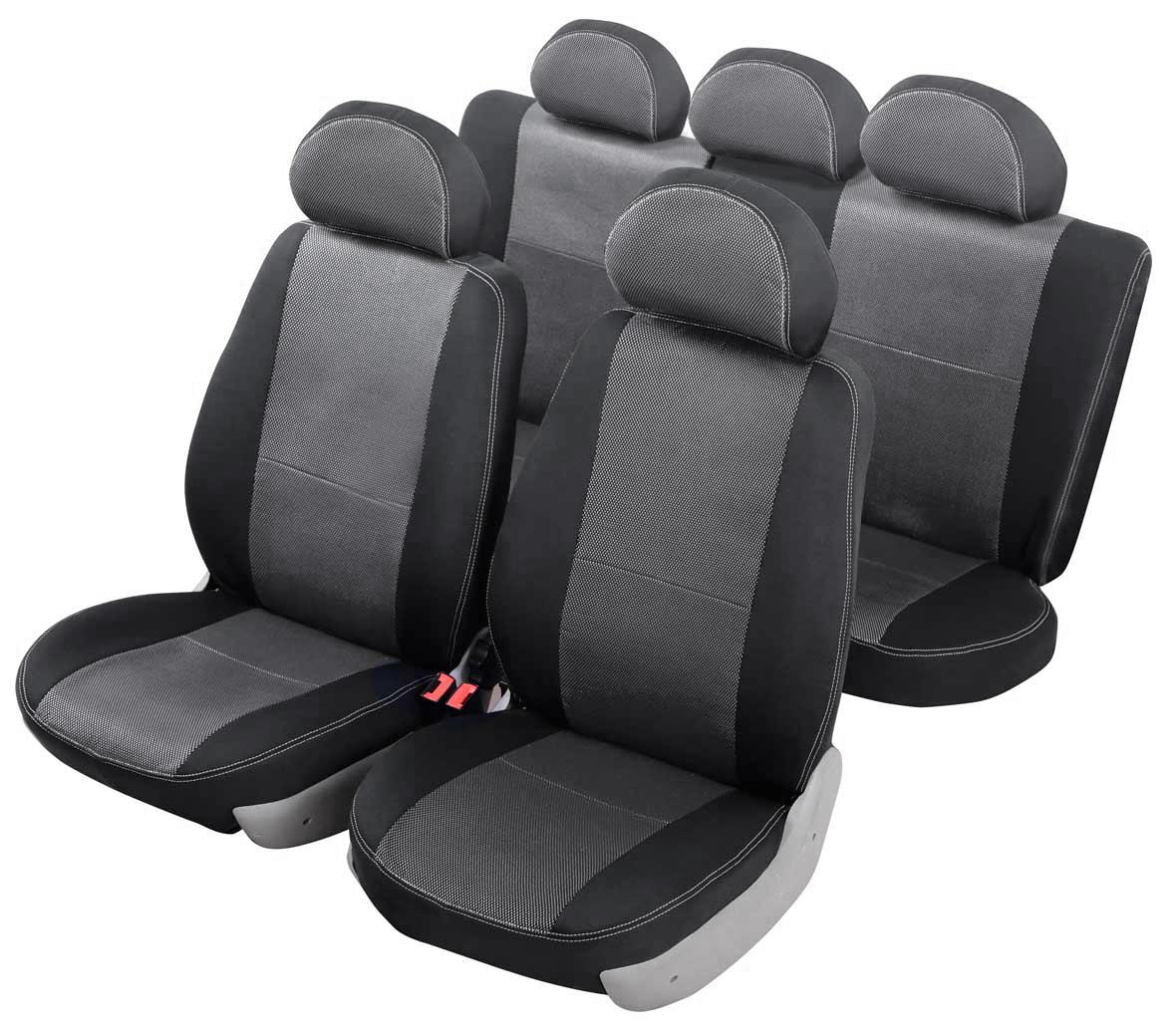Чехлы автомобильные Senator Dakkar, для Hyundai Accent 2000-2012, седан67018Автомобильные чехлы Senator Dakkar изготовлены из качественного жаккарда, триплированного огнеупорным поролоном толщиной 5 мм, за счет чего чехол приобретает дополнительную мягкость. Подложка из спанбонда сохраняет свойства поролона и предотвращает его разрушение. Водительское сиденье имеет усиленные швы, все внутренние соединительные швы обработаны оверлоком. Чехлы идеально повторяют штатную форму сидений и выглядят как оригинальная обивка сидений. Разработаны индивидуально для каждой модели автомобиля. Дизайн чехлов Senator Dakkar приближен к оригинальной обивке салона. Жаккардовый материал расположен в центральной части сидений и спинок, а также на подголовниках. Декоративная контрастная прострочка по периметру авточехлов придает стильный и изысканный внешний вид интерьеру автомобиля. В спинках передних сидений расположены карманы, закрывающиеся на молнию. Чехлы сохраняют полную функциональность салона - трансформация сидений, возможность установки детских кресел ISOFIX, не препятствуют работе подушек безопасности AIRBAG и подогреву сидений. Для простоты установки используется липучка Velcro, учтены все технологические отверстия. Авточехлы Senator Dakkar просты в уходе - загрязнения легко удаляются влажной тканью. Чехлы имеют раздельную схему надевания. Чехлы задних сидений закрывают всю поверхность, включая тыльную сторону спинки (со стороны багажника).