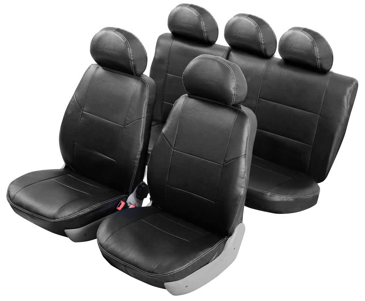 Чехлы автомобильные Senator Atlant, для Hyundai Accent 2000-2012, седанст18фАвтомобильные чехлы Senator Atlant изготовлены из качественной мягкой экокожи, триплированной огнеупорным поролоном толщиной 5 мм, за счет чего чехол приобретает дополнительную мягкость. Подложка из спанбонда сохраняет свойства поролона и предотвращает его разрушение. Водительское сиденье имеет усиленные швы, все внутренние соединительные швы обработаны оверлоком. Чехлы идеально повторяют штатную форму сидений и выглядят как оригинальный кожаный салон. Разработаны индивидуально для каждой модели автомобиля. Дизайн чехлов Senator Atlant приближен к оригинальной обивке салона. Чехлы имеют вставки из перфорированной кожи по центру переднего сиденья и на подголовниках, которые создают дополнительный комфорт во время поездки. Декоративная контрастная прострочка по периметру авточехлов придает стильный и изысканный внешний вид интерьеру автомобиля. В спинках передних сидений расположены карманы, закрывающиеся на молнию. Чехлы сохраняют полную функциональность салона - трансформация сидений, возможность установки детских кресел ISOFIX, не препятствуют работе подушек безопасности AIRBAG и подогреву сидений. Для простоты установки используется липучка Velcro, учтены все технологические отверстия. Авточехлы Senator Atlant просты в уходе - загрязнения легко удаляются влажной тканью.