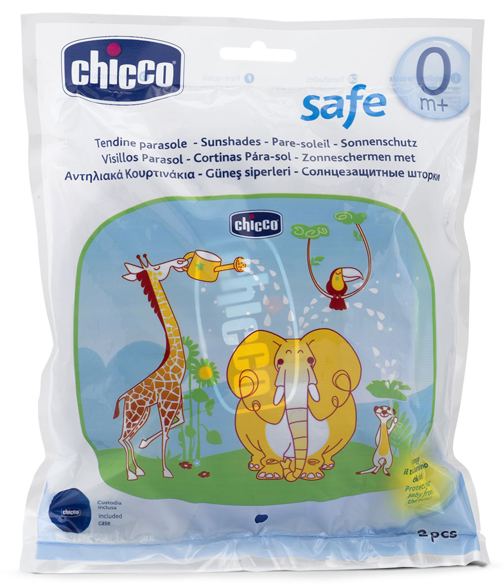 Chicco Солнцезащитная шторка для автомобиля 2 шт94672Солнцезащитную шторку для автомобиля Chicco можно установить на заднем стекле автомобиля при помощи резиновых присосок, которые входят в комплект. Две резиновые присоски фиксируют шторку в нужной позиции. После использования сверните шторку и положите ее в специальную сумку.