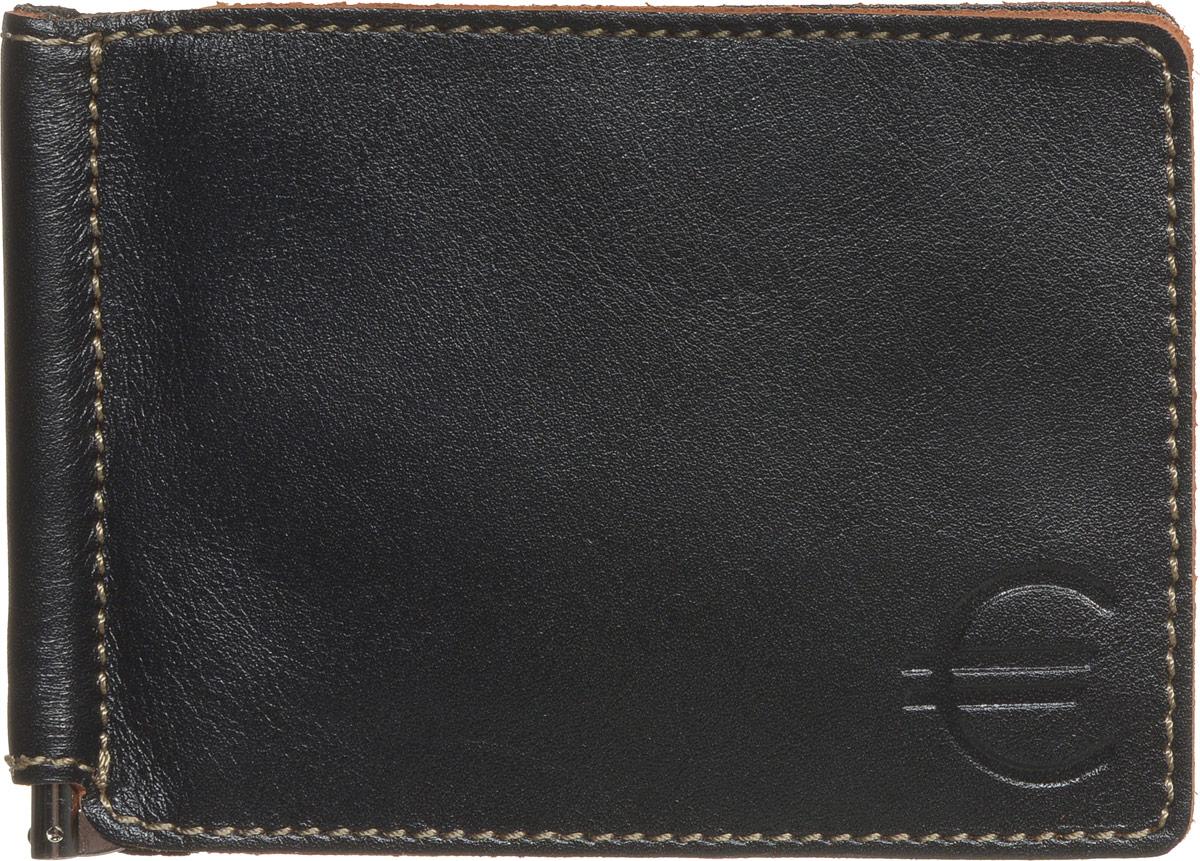 Зажим для купюр мужской Fabula Kansas, цвет: черный. Z.6.TXFBM8434-58AEЗажим для купюр Fabula Kansas выполнен из высококачественной натуральной кожи, оформлен контрастной отделочной строчкой и тиснением.Изделие раскладывается пополам, внутри расположены: зажим для купюр, шесть прорезных карманов для кредитных карт.Зажим для купюр упакован в коробку из плотного картона с логотипом фирмы.Этот практичный зажим для купюр непременно подойдет к вашему образу, а также порадует вас своей простотой, стилем и функциональностью.